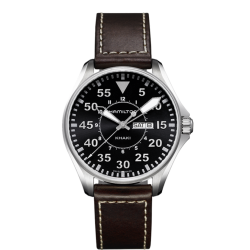 KHAKI AVIATION PILOT DAY DATE QUARTZ H64611535