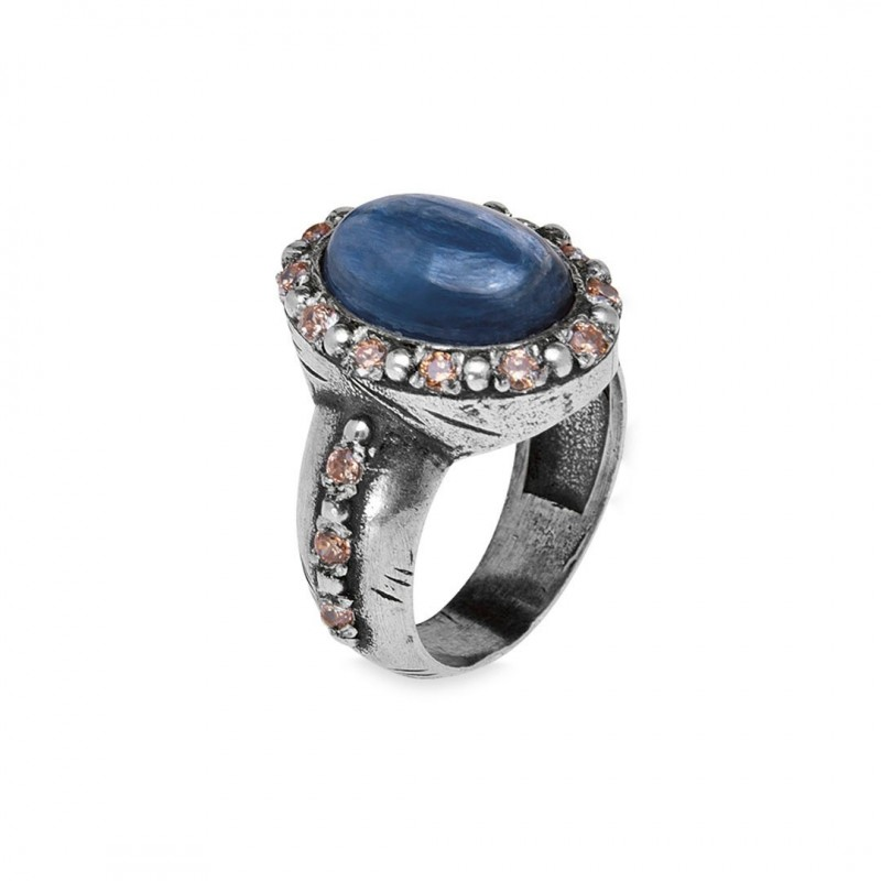 ANILLO PLATADEPALO WOMAN 'MATAHARI' RING THIRTEEN CR41C