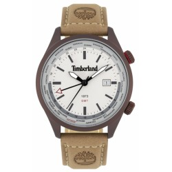 Timberland Malden 45mm grey 3h date camel leather 15942JSBN-13