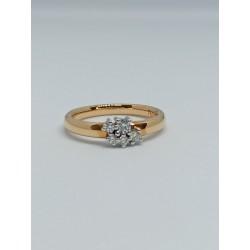 Anillo oro blanco y rosa con diamantes 10425 ORNSIB18