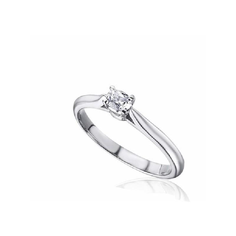 Anillo oro blanco y diamante 13626 B15