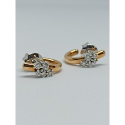 Pendientes oro blanco y rosa con Diamantes 23802 ORNSIB39