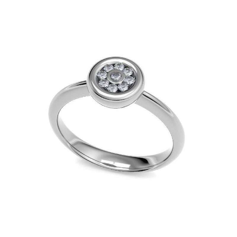 Anillo oro blanco y diamantes 14048 B11