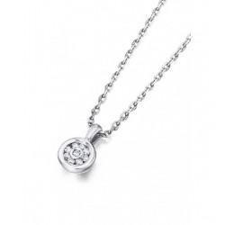 Colgante oro blanco y Diamantes 54037 B11