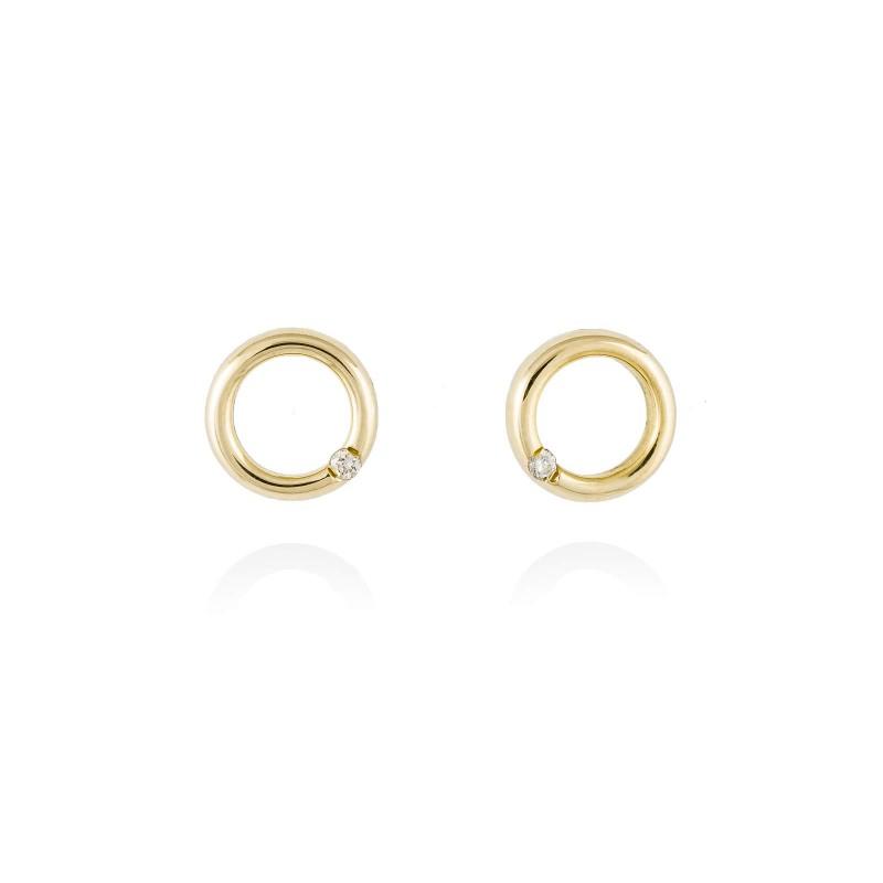 Pendientes en Oro 18Kt. y diamantes A4732A