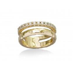 Anillo FINE en plata dorada 90071SD