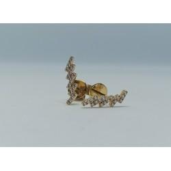 Pendientes Oro Amarillo Diamantes 0,12kt