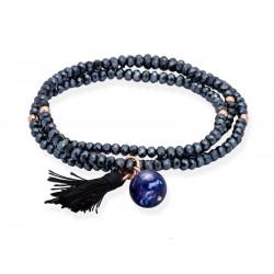 Pulsera ZEN Azul en plata Rosa 90045UL