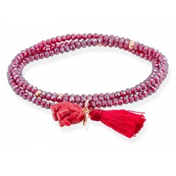 Pulsera ZEN Rojo en plata rosa 90014UE