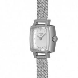 Reloj mujer cuadrado Tissot Lovely Square acero inoxidable diamantes Top Wesselton